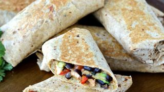 Crispy Chipotle Tofu and Black Bean Burritos