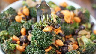 Spicy Peanutty Broccoli