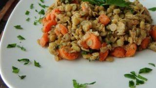 Warm French Lentil Salad - Sinful Nutrition