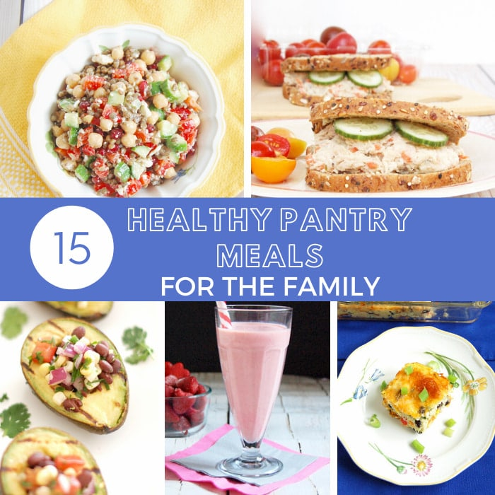 roundup of healthy pantry meals made with pulses