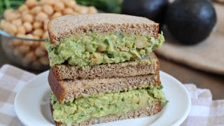 Avocado Chickpea Salad Sandwiches