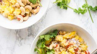Mango Quinoa Salad -Thai Inspired!