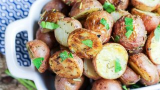 Herb and Garlic Roasted Baby Red Potatoes