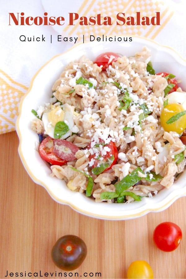 nicoise pasta salad for pinterest