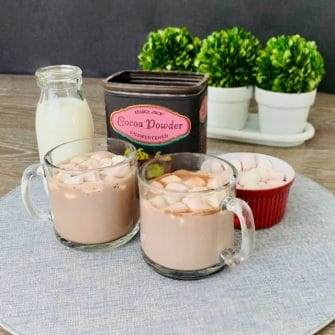 microwave hot chocolate with marshmallows